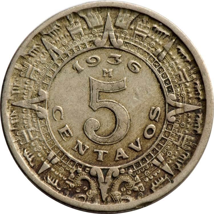 Mexico 5 Centavos (1936-1942)