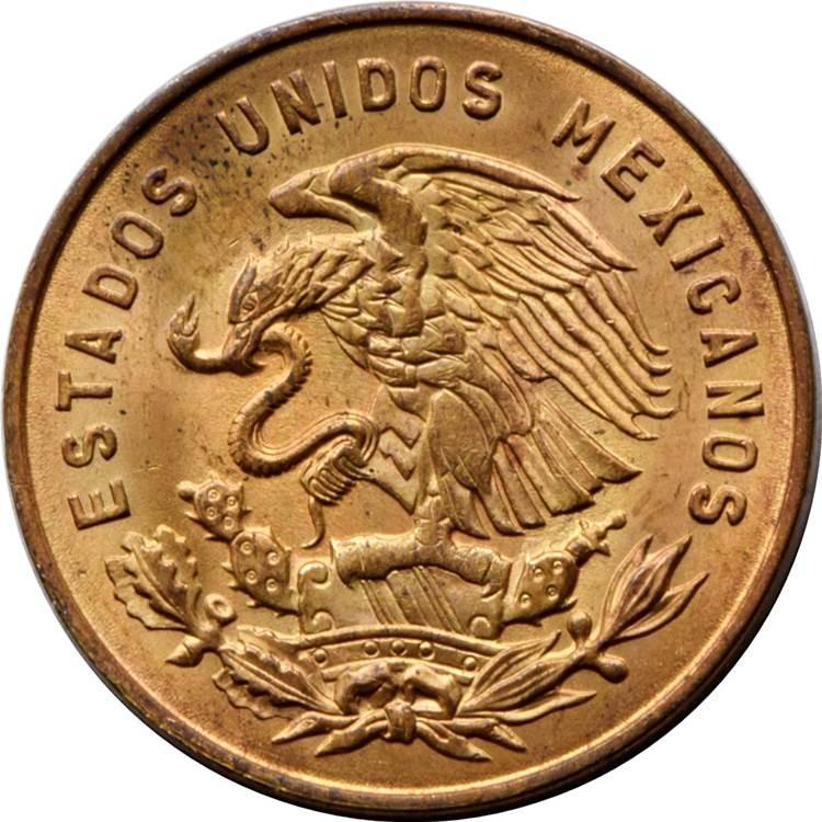 Mexico 5 Centavos (1954-1969 Large Type)