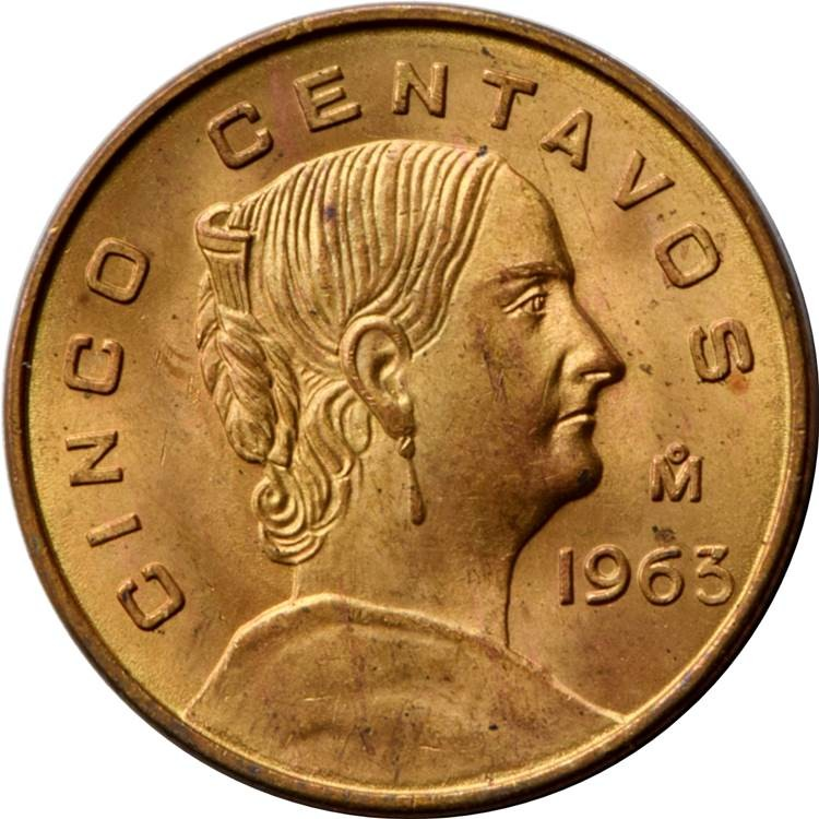 Mexico 5 Centavos (1954-1969 Large Type)