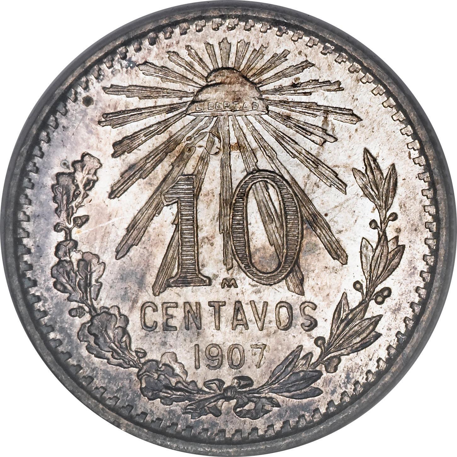 Mexico 10 Centavos (1905-1914)