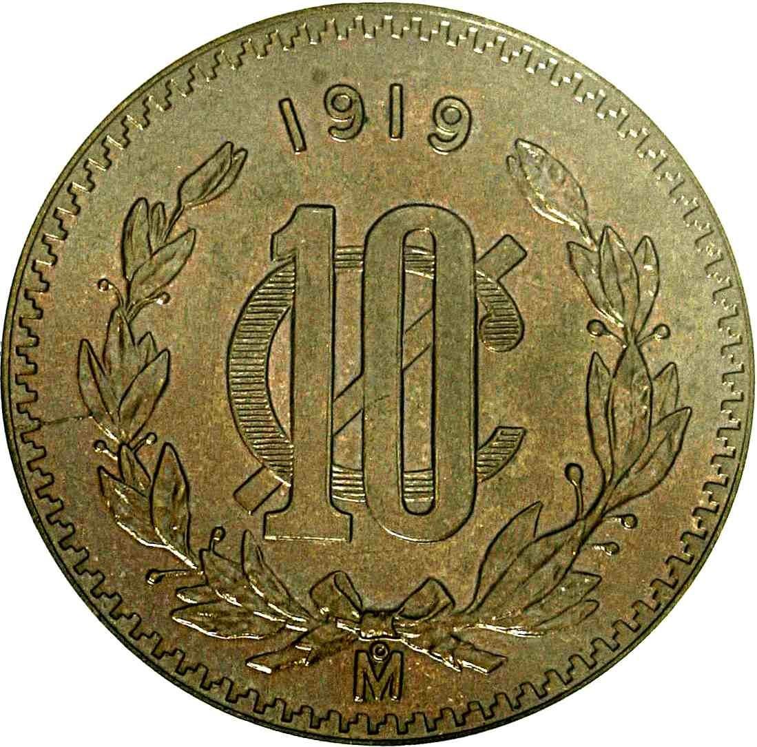 Mexico 10 Centavos (1919-1935)