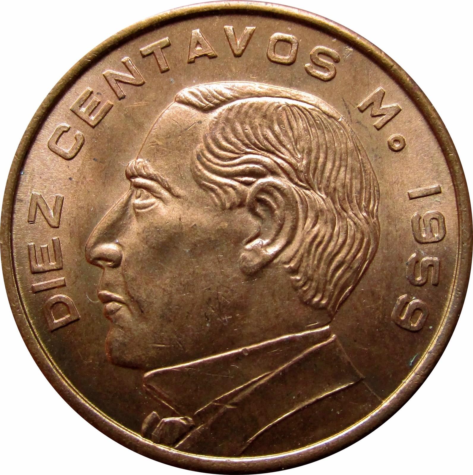 Mexico 10 Centavos (1955-1967)