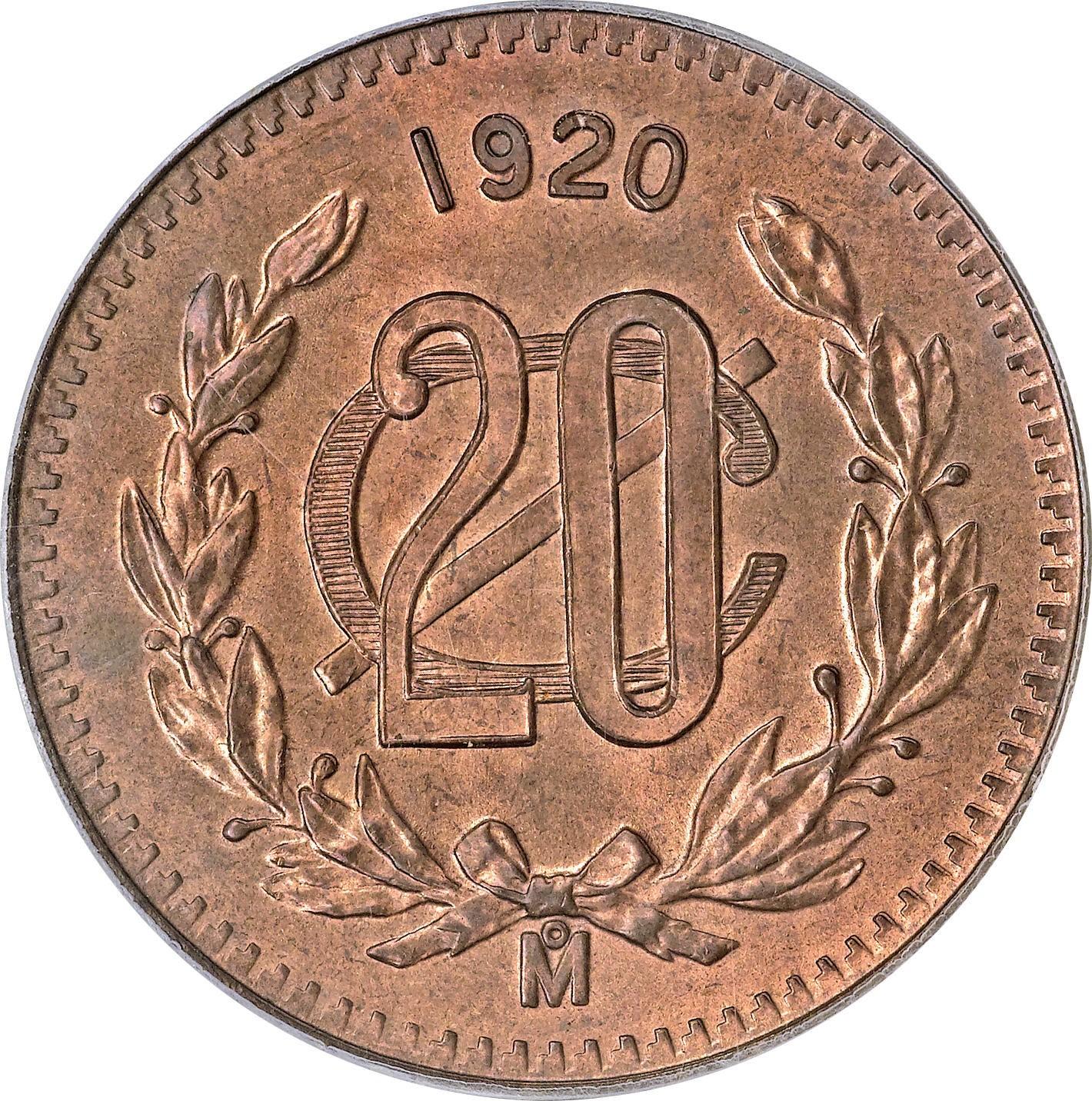Mexico 20 Centavos (1920-1935)