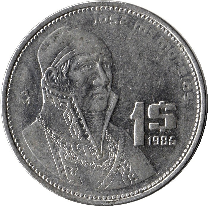 Mexico 1 Peso (1984-1987)