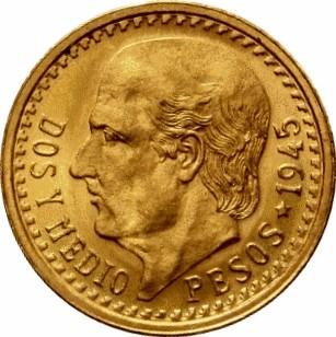 Mexico 2½ Pesos (1918-1948)