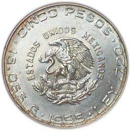 Mexico 5 Pesos (1955-1957)