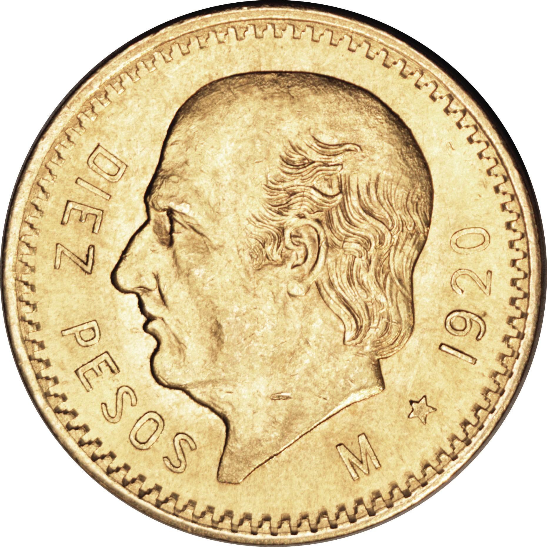 Mexico 10 Pesos (1905-1996 Hidalgo)