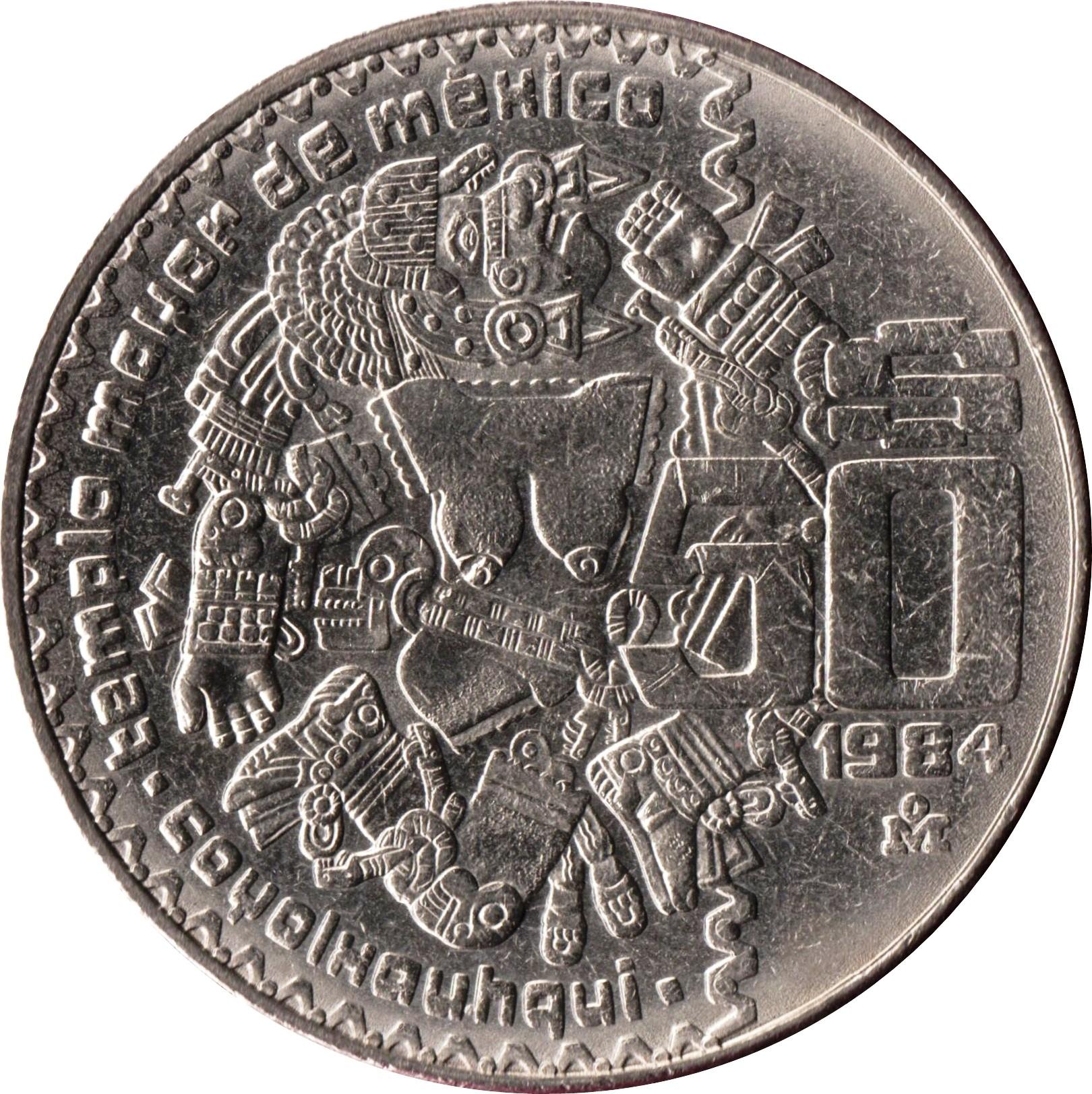 Mexico 50 Pesos (1982-1984 Coyolxauhqui)
