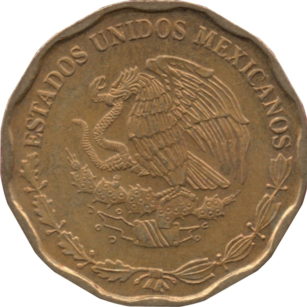 Mexico 50 Centavos (1992-2009 Large Type)