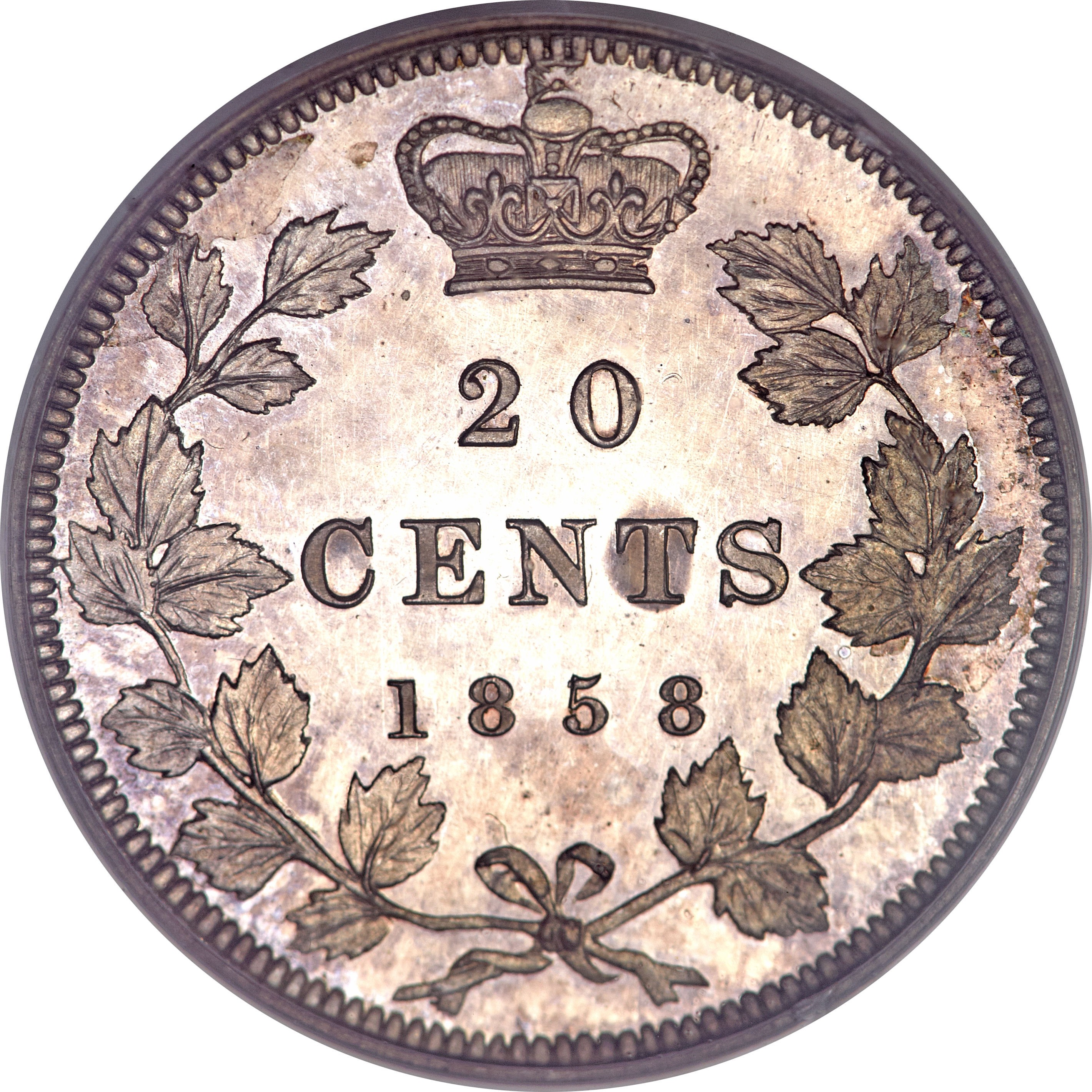 Canada 20 Cents (1858 Victoria)