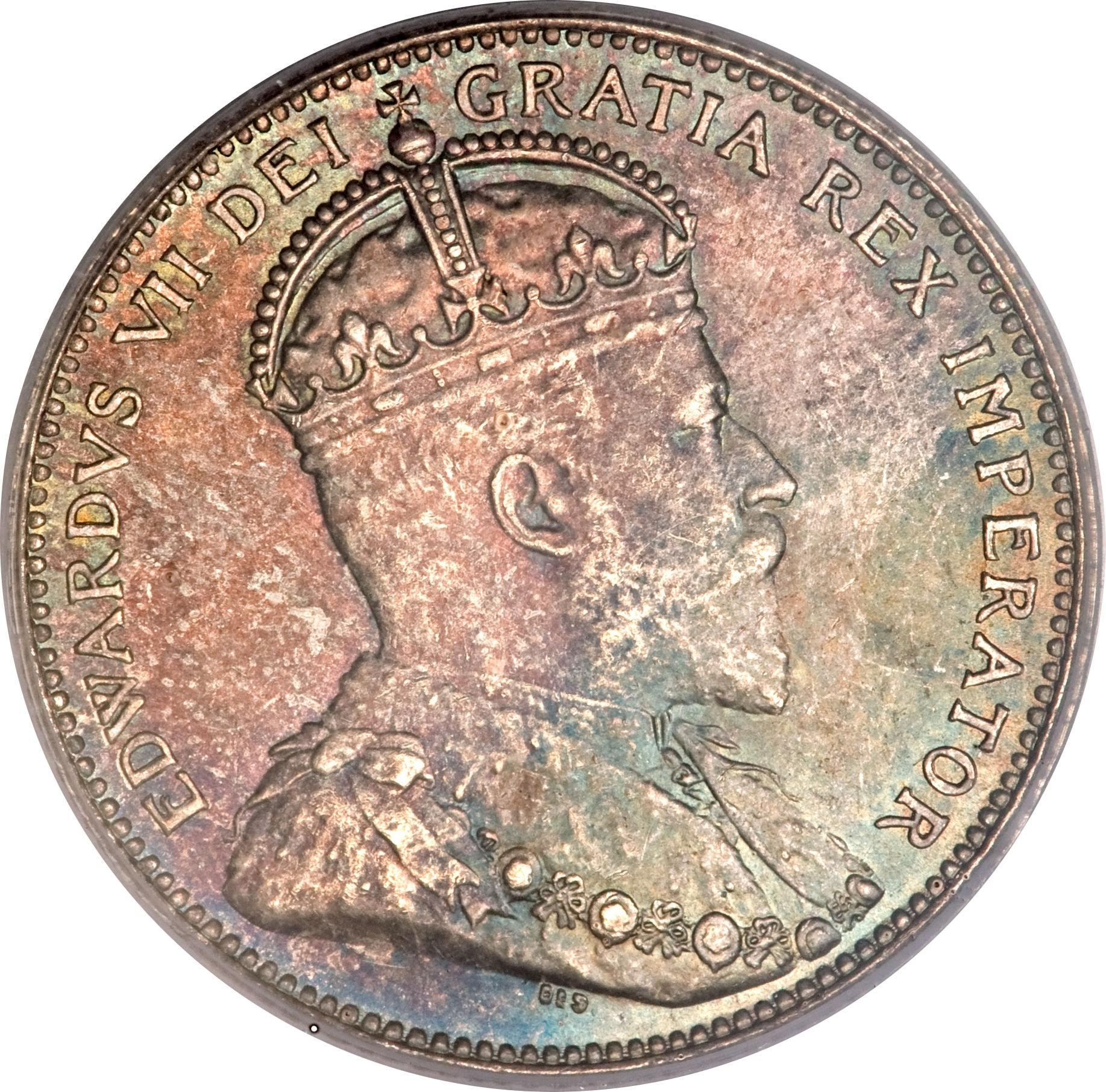 Canada 25 Cents (1910 Edward VII)