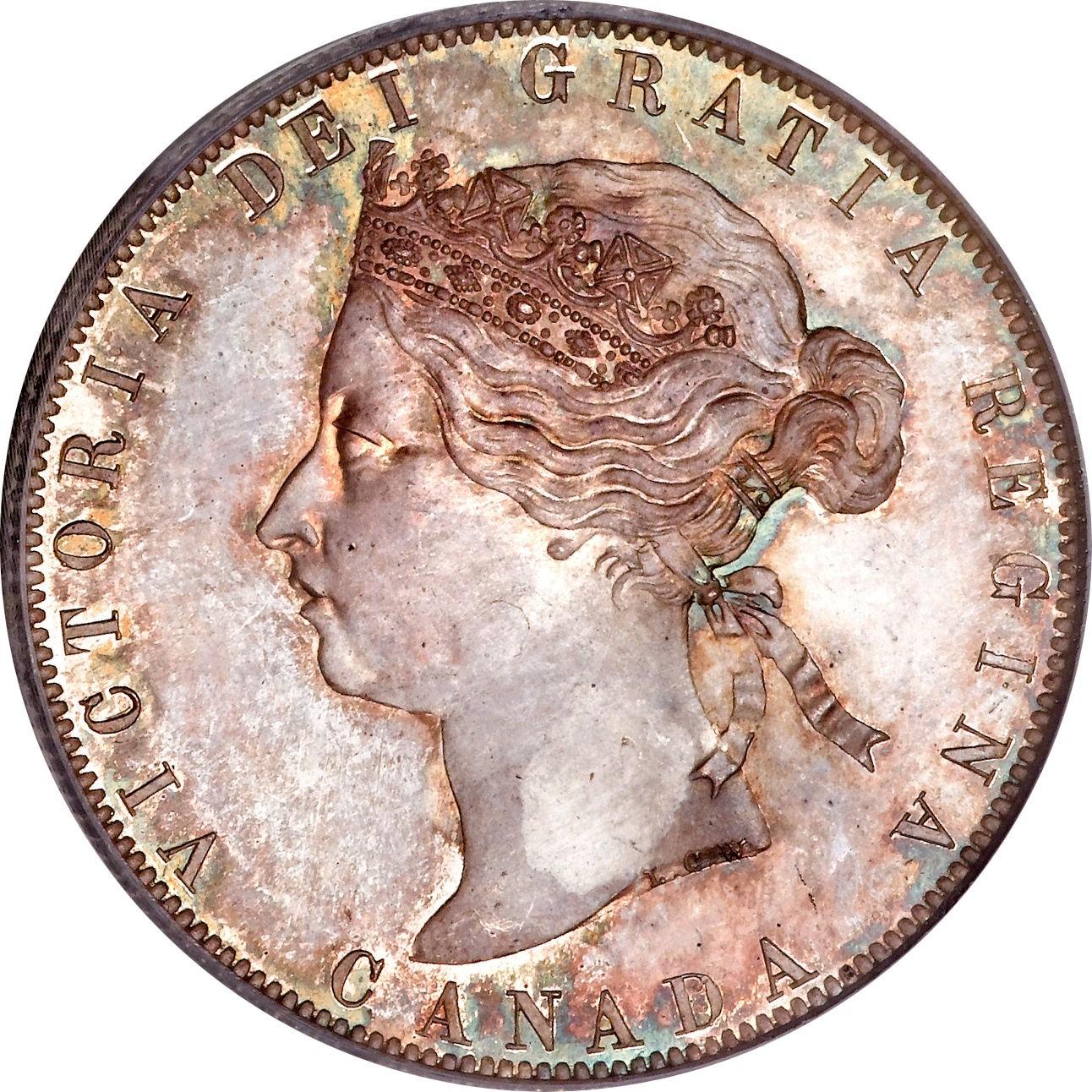 Canada 50 Cents (1870-1901 Victoria)