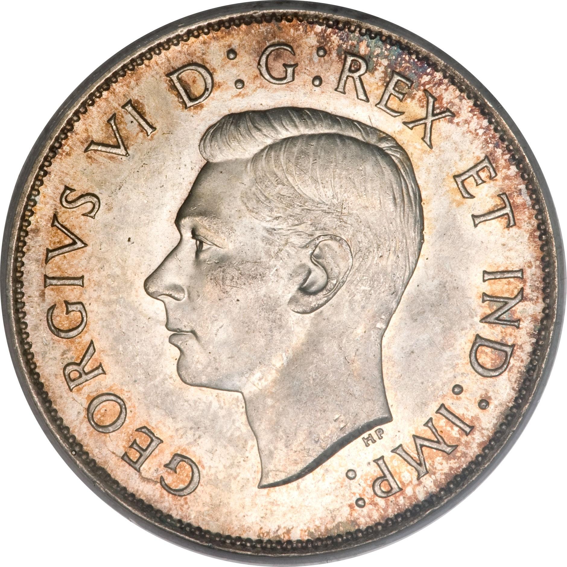 Canada 50 Cents (1937-1947 George VI)