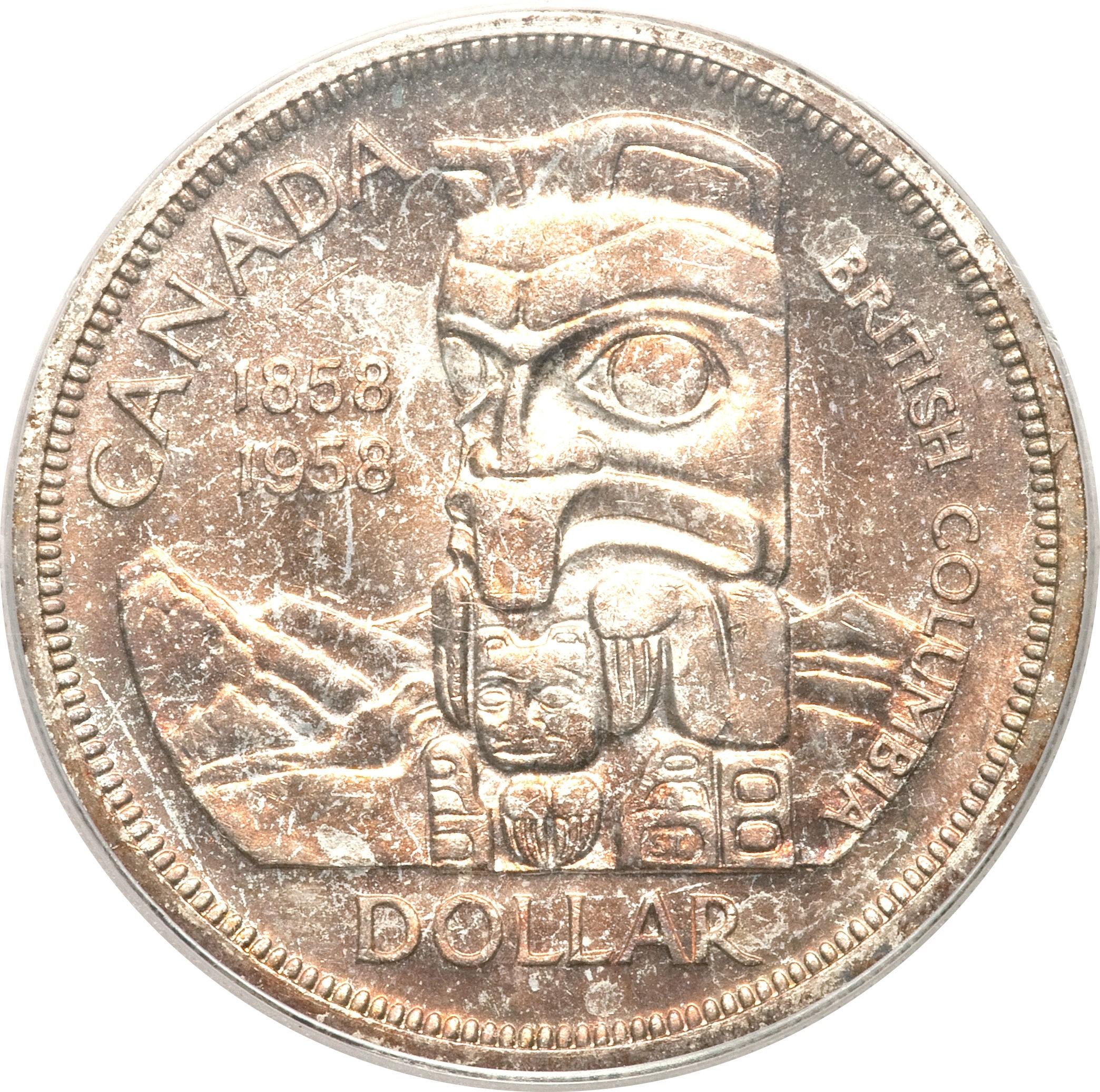 Canada 1 Dollar (1958 Elizabeth II British Columbia)
