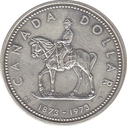 Canada 1 Dollar (1973 Elizabeth II Royal Canadian Mounted Police)