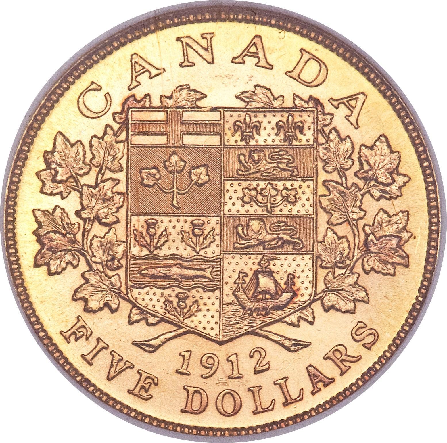 Canada 5 Dollars (1912-1914 George V)