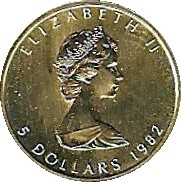 Canada 5 Dollars (1982-1989 Elizabeth II)
