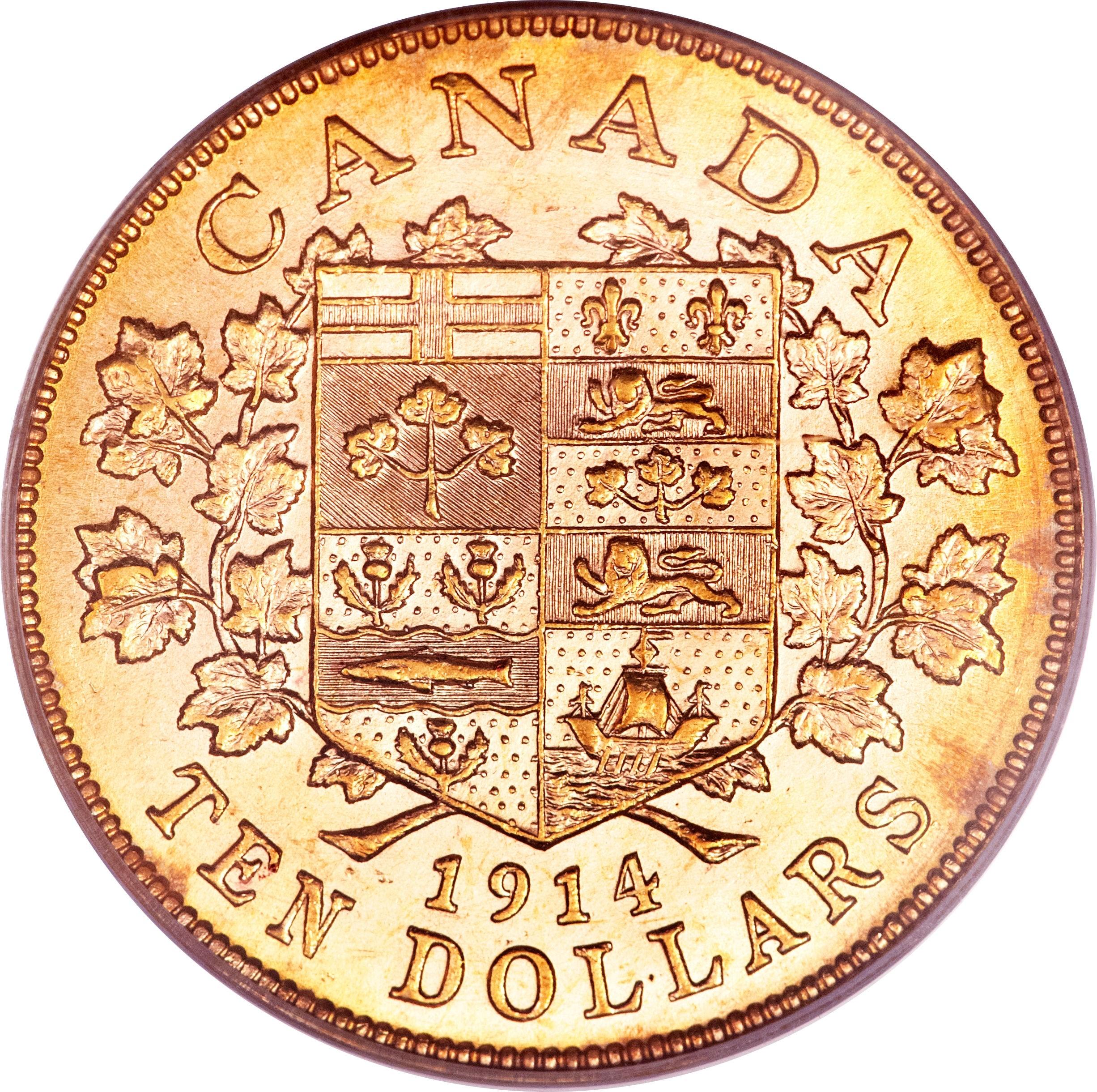 Canada 10 Dollars (1912-1914 George V)