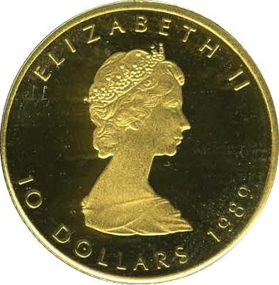 Canada 10 Dollars (1982-1989 Elizabeth II)