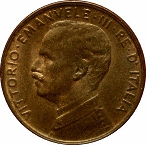 Italy 1 Centesimo (1908-1918 Vittorio Emanuele III)