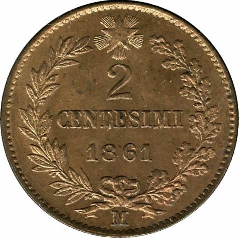 Italy 2 Centesimi (1861-1867 Vittorio Emanuele II)