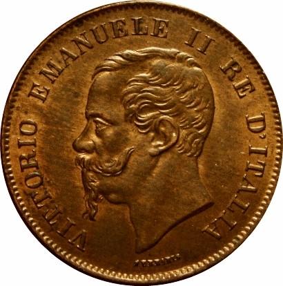 Italy 5 Centesimi (1861-1867 Vittorio Emanuele II)