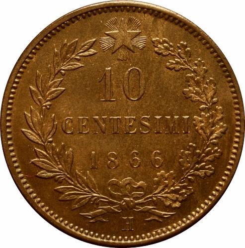 Italy 10 Centesimi  (1862-1867 Vittorio Emanuele II)