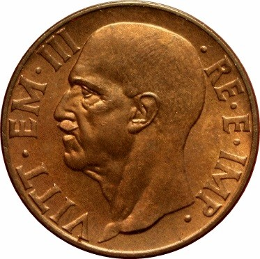 Italy 10 Centesimi  (1936-1943 Vittorio Emanuele III)