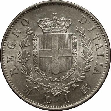 Italy 1 Lira   (11863-1867 Vittorio Emanuele II)