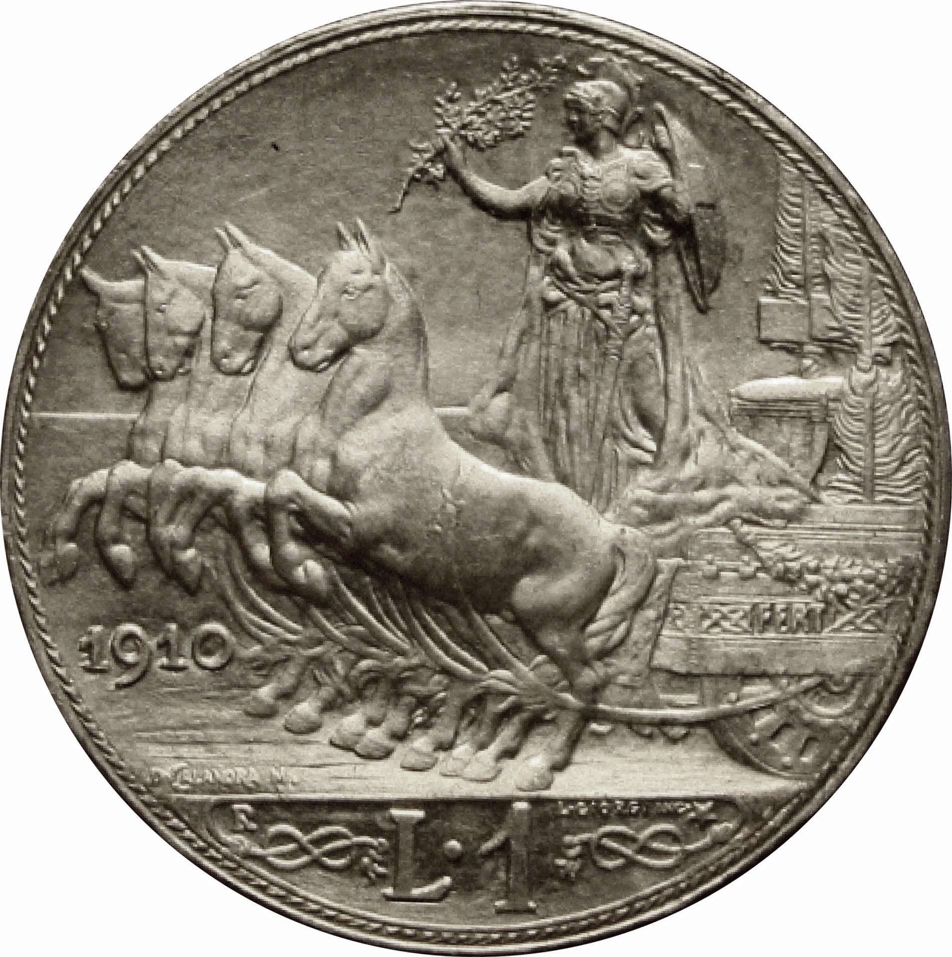 Italy 1 Lira (1908-1913 Vittorio Emanuele III)
