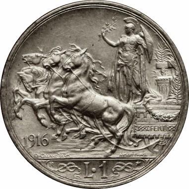 Italy 1 Lira (1915-1917 Vittorio Emanuele III)