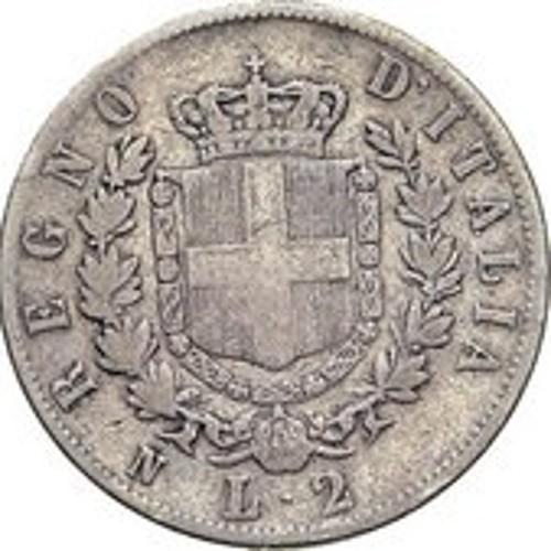 Italy 2 Lire (1861-1862 Vittorio Emanuele II)