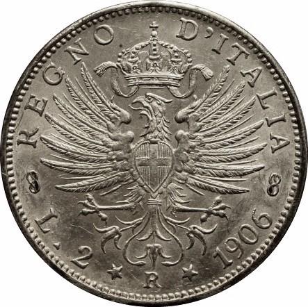 Italy 2 Lire (1901-1907 Vittorio Emanuele III)