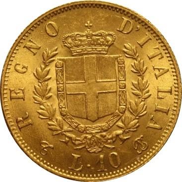 Italy 10 Lire (1861-1865 Vittorio Emanuele II)