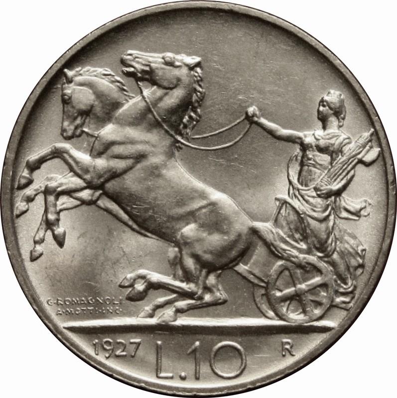 Italy 10 Lire (1926-1934 Vittorio Emanuele III)