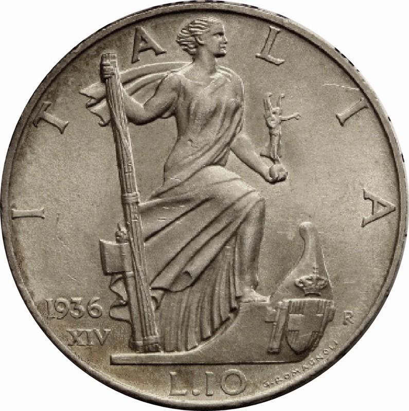 Italy 10 Lire (1936-1941 Vittorio Emanuele III)