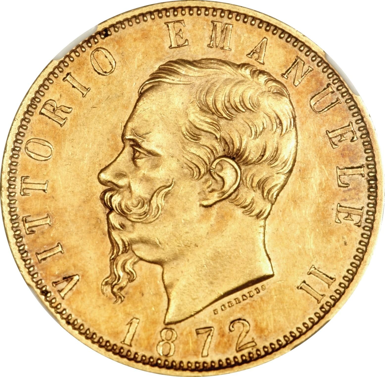 Italy 100 Lire (1864-1878 Vittorio Emanuele II)