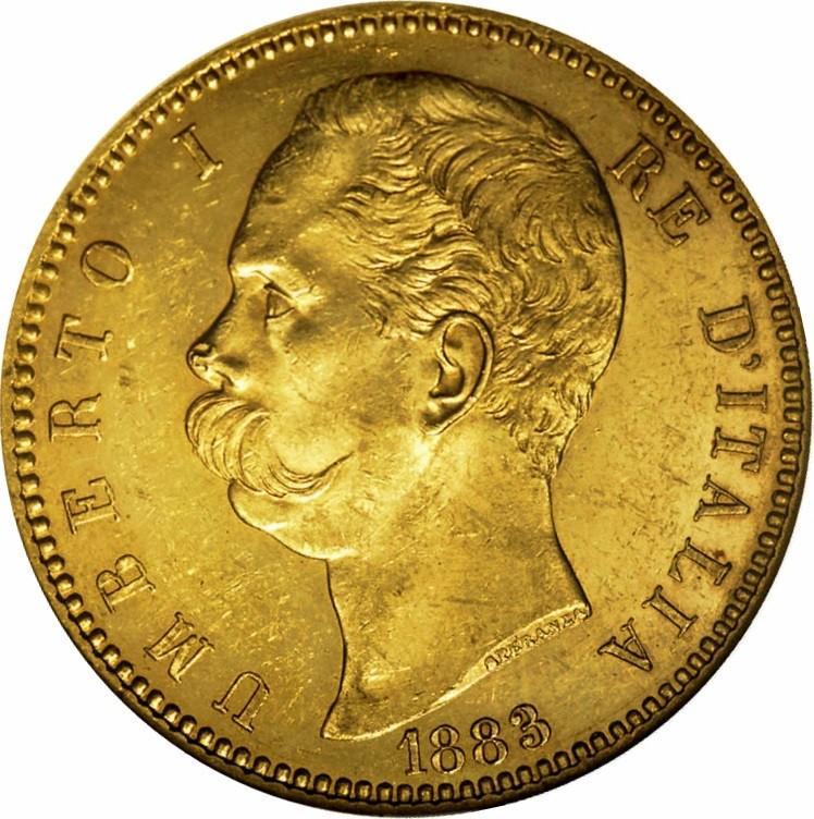 Italy 100 Lire (1880-1891 Umberto I)