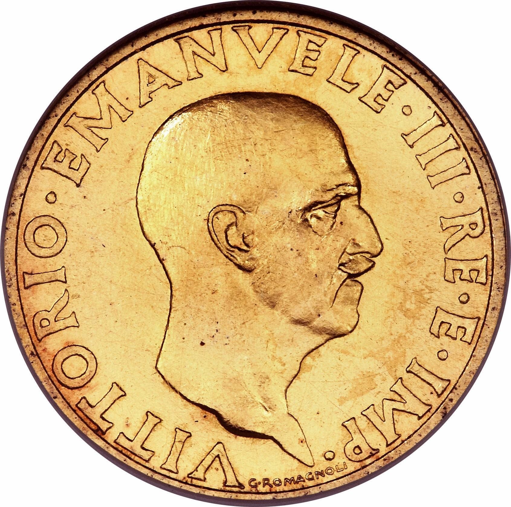 Italy 100 Lire (1936 Vittorio Emanuele III)