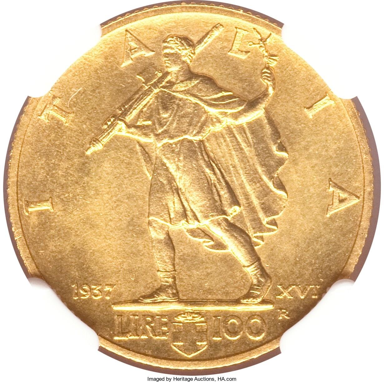 Italy 100 Lire (1937-1940 Vittorio Emanuele III)