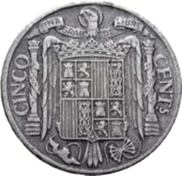 Spain 5 Centimos (1940-1953 Iberian rider)