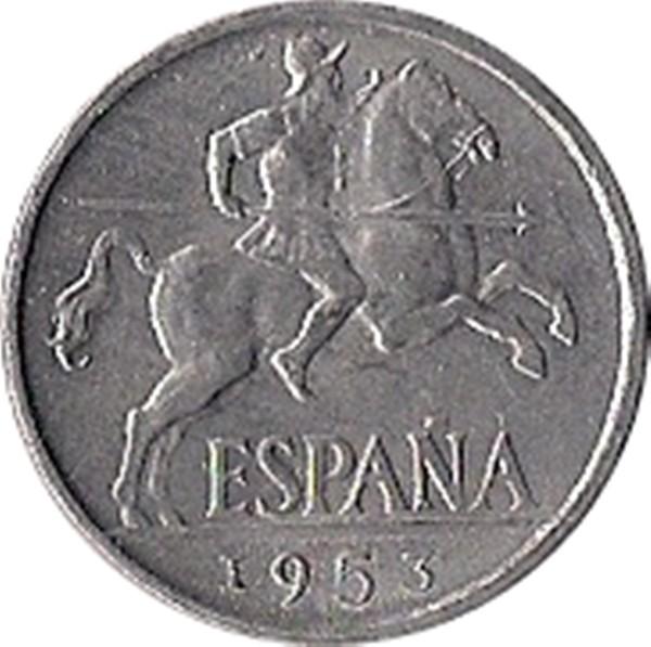 Spain 10 Centimos (1940-1943 Iberian rider)