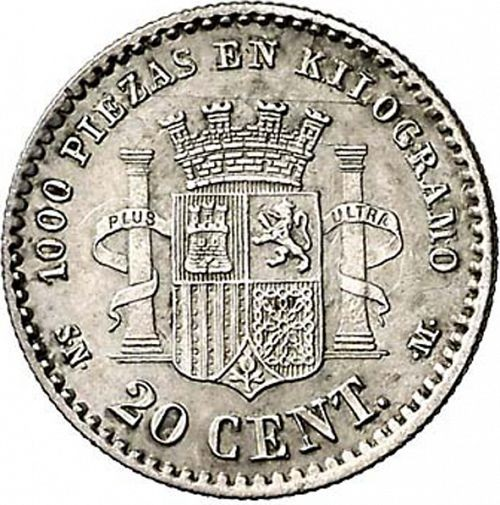 Spain 20 Centimos (1869-1870 Provisional Government)