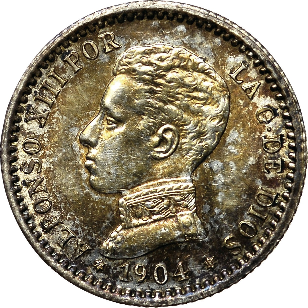 Spain 50 Centimos (1904 Alfonso XIII)