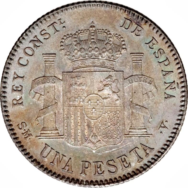 Spain 1 Peseta (1896-1902 Alfonso XIII)
