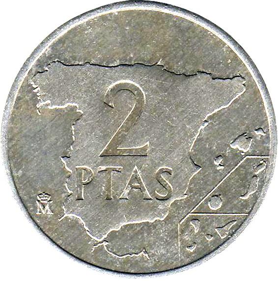 Spain 2 Pesetas (1982-1984 Juan Carlos I)