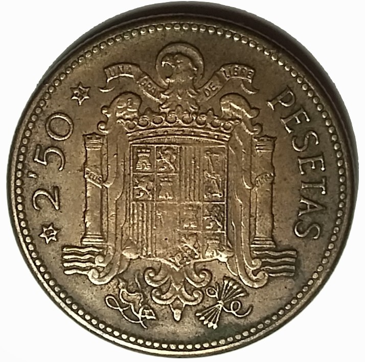 Spain 2½ Pesetas (1953 Francisco Franco)