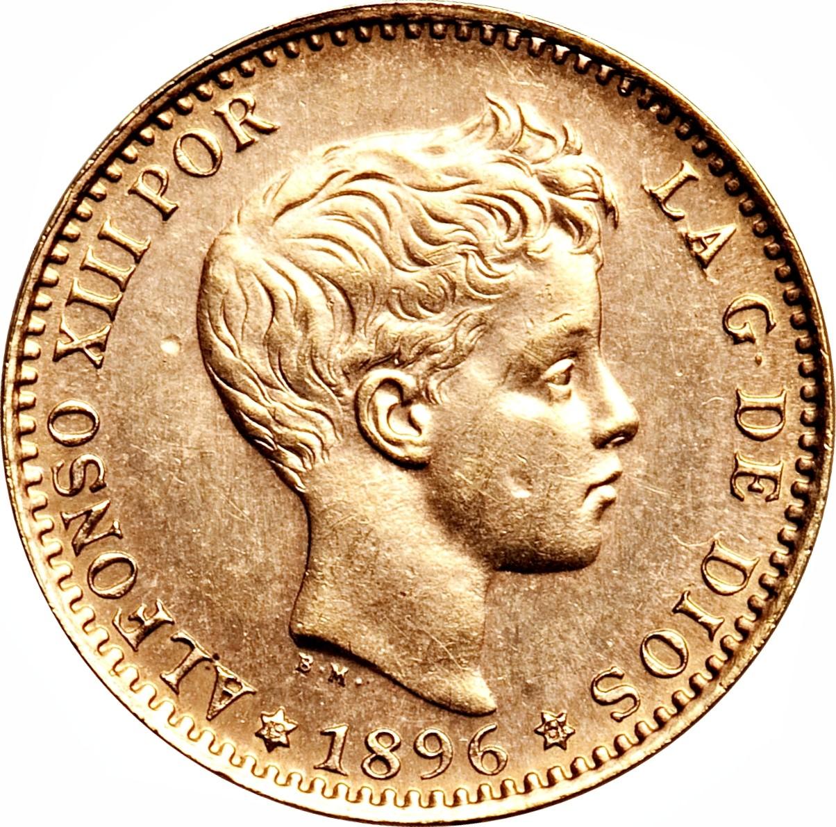 Spain 20 Pesetas (1896-1899 Alfonso XIII)