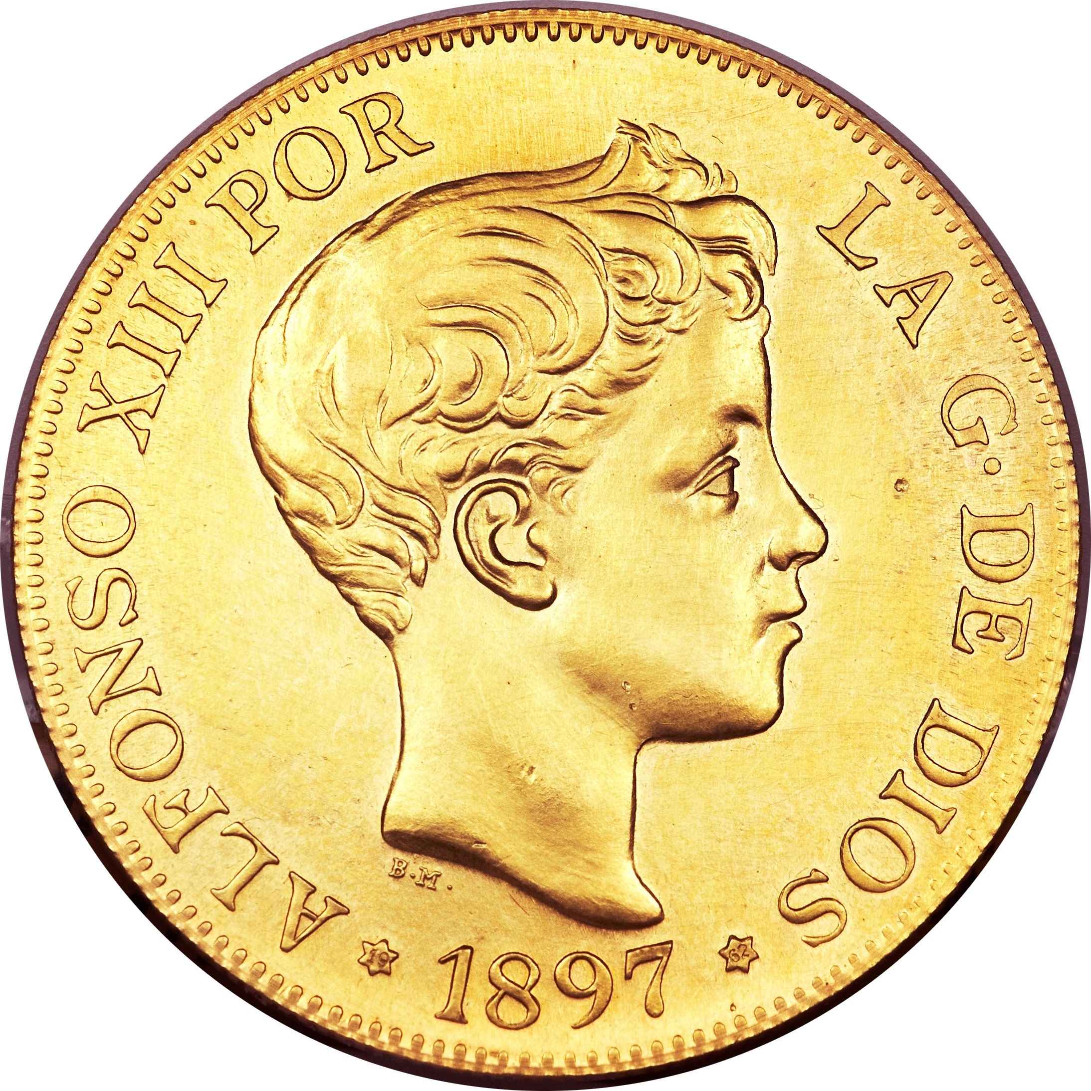 Spain 100 Pesetas (1897 Alfonso XIII)