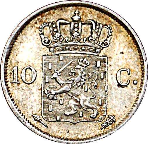 Netherlands 10 Cents  (1818-1828 Willem I)